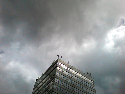 Arts Tower in the storm