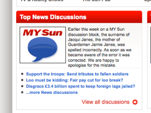 sun typo apology